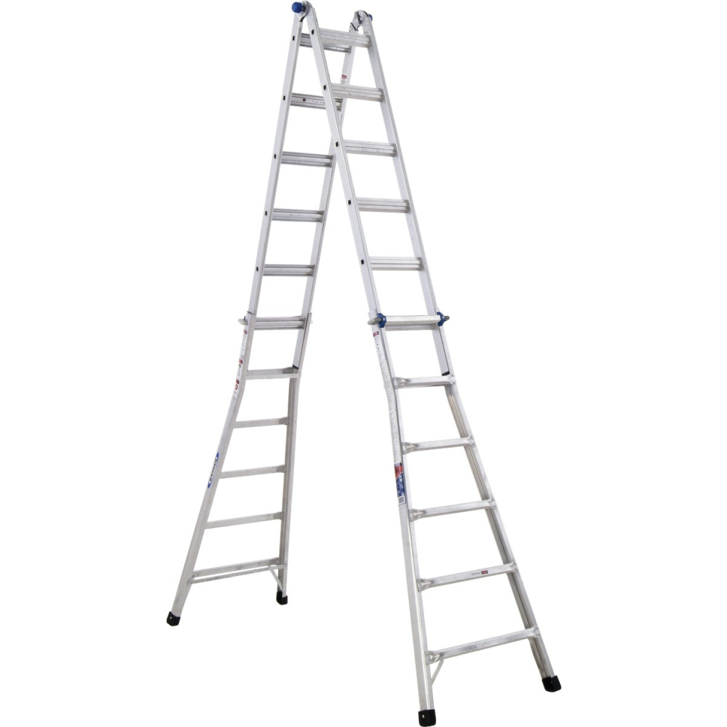 Werner 26 Ft. Aluminum Multi-Position Telescoping Ladder with 300 Lb. Load Capacity Type IA Ladder Rating Image 10