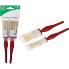 Smart Savers 1 In. Flat, 1-1/2 In. Flat Polyester Assorted Paint Brush Set (2-Pack) Image 1