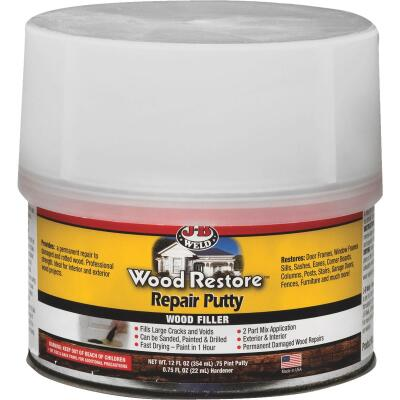 J-B Weld Wood Restore 12 Oz. 2-Part Repair Wood Putty