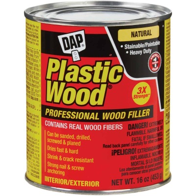 DAP Plastic Wood 16 Oz. Natural Solvent Professional Wood Filler