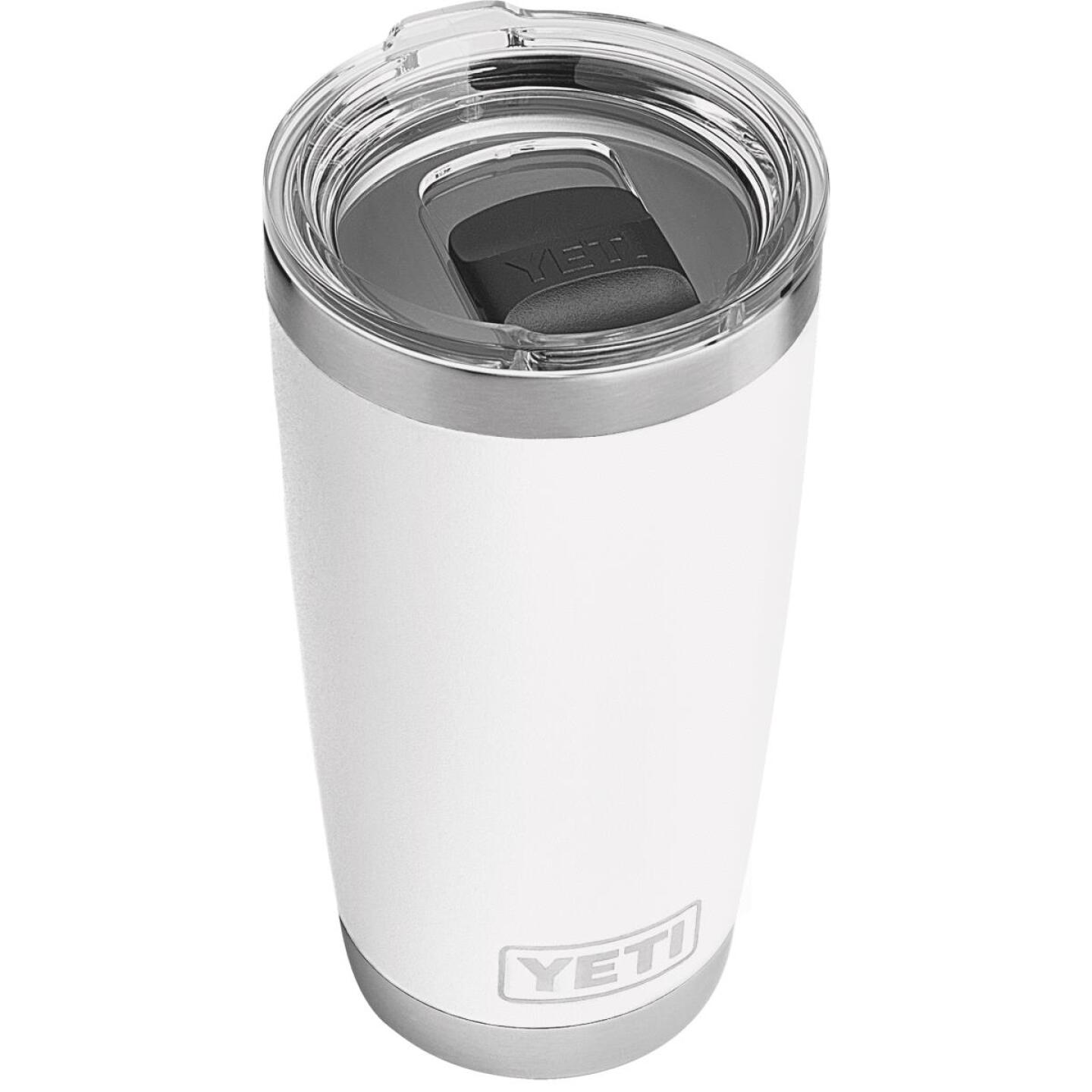Yeti Rambler 20 Oz. White Stainless Steel Insulated Tumbler with MagSlider Lid Image 1