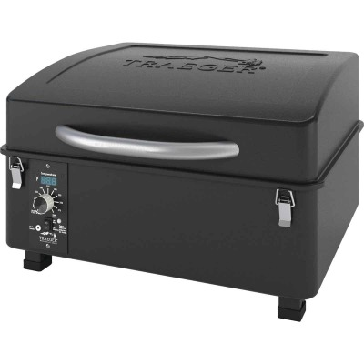 Traeger Scout Black 16,000-BTU 184 Sq. In. Portable Wood Pellet Grill