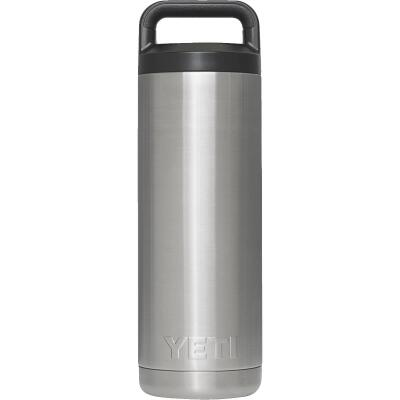 Yeti Rambler 18 Oz. Silver Stainless Steel Insulated Vacuum Bottle