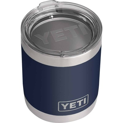 Yeti Rambler Lowball 10 Oz. Navy Blue Stainless Steel Insulated Tumbler