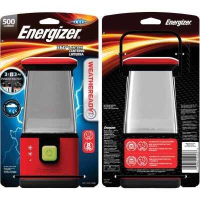 Energizer Weatheready 6 in. W. x 10 In. H. Red Plastic 360 Deg LED Lantern