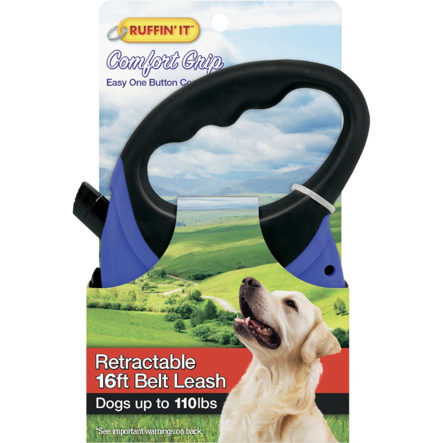 Westminster Pet Ruffin' it 16 Ft. Cord Up to 110 Lb. Dog Retractable Leash Image 1