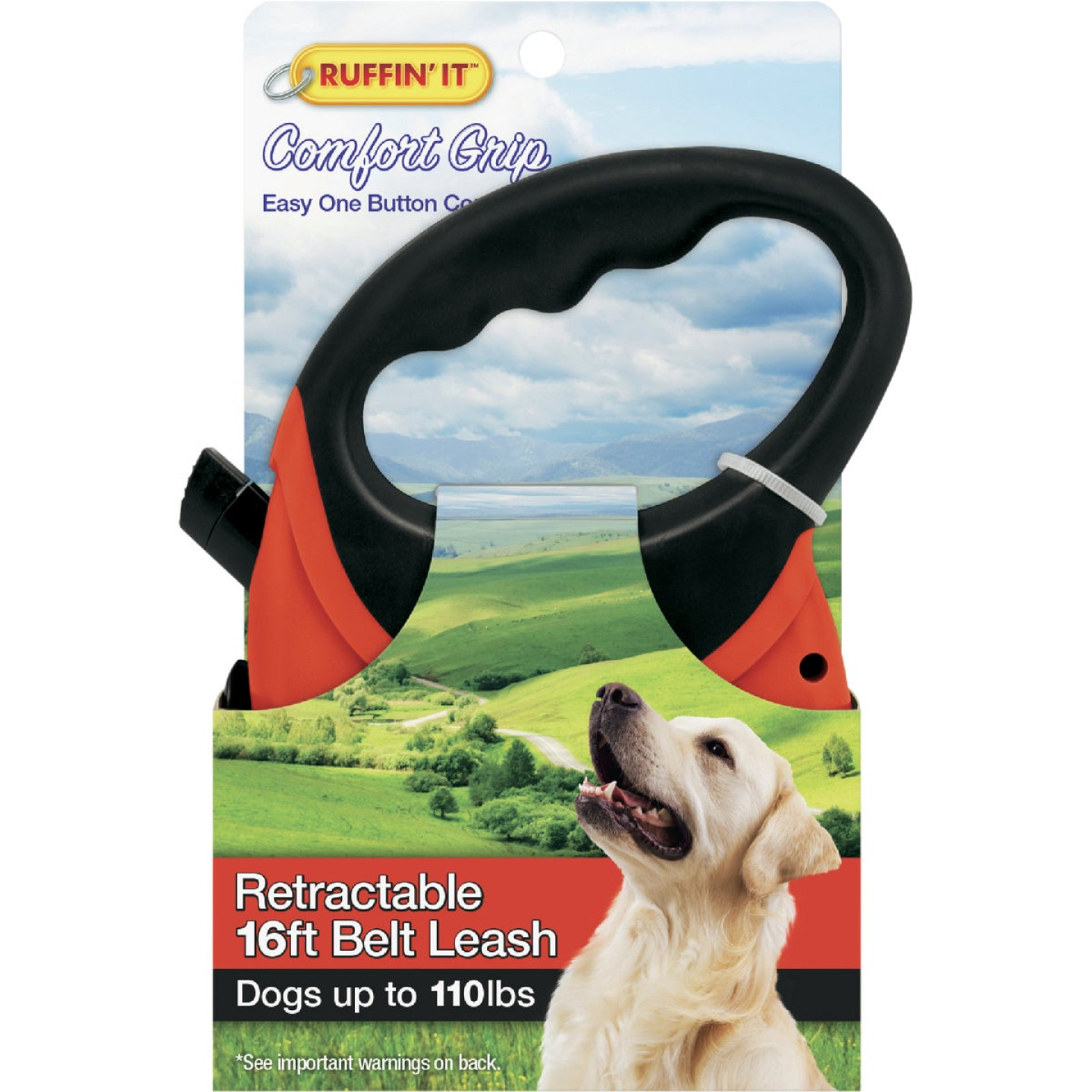 Westminster Pet Ruffin' it 16 Ft. Cord Up to 110 Lb. Dog Retractable Leash Image 2