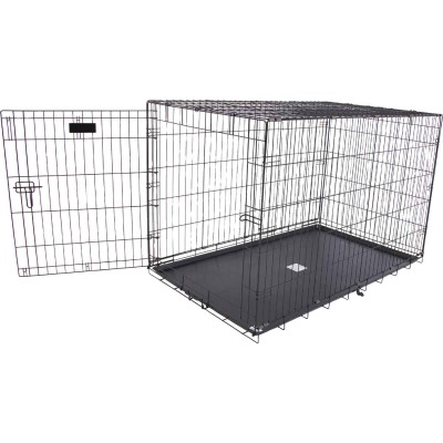 Petmate Aspen Pet 29.3 In. W. x 31 In. H. x 43.4 In. L. Heavy-Gauge Wire Indoor Training Dog Crate