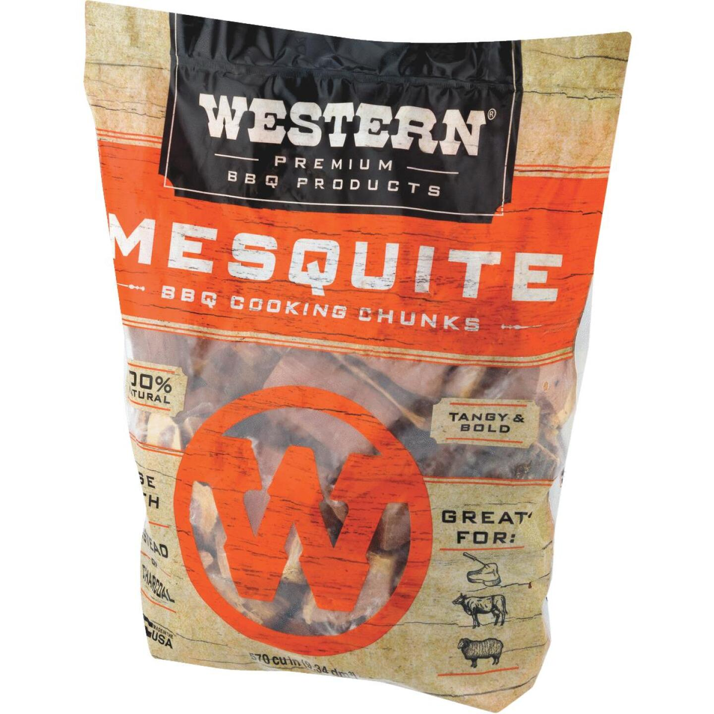 Western 6 Lb. Mesquite Wood Smoking Chunks Image 2
