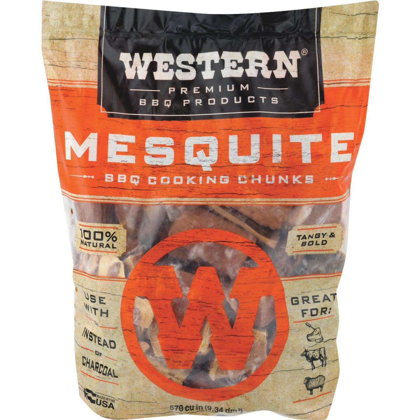 Western 6 Lb. Mesquite Wood Smoking Chunks Image 4