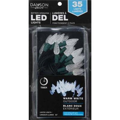 Danson Decor Warm White 35-Bulb C6 LED Battery Operated Light Set