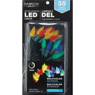 Danson Decor Multi 35-Bulb C6 LED Battery Operated Light Set