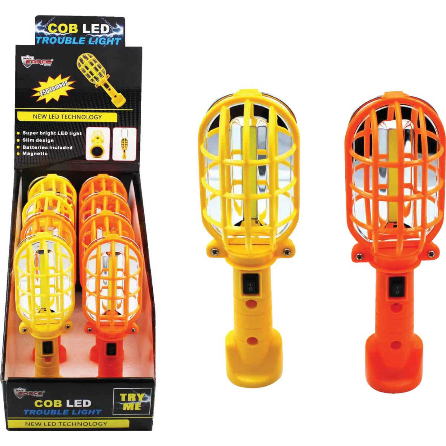 Diamond Visions Max Force COB LED Battery Operated Trouble Light Image 1