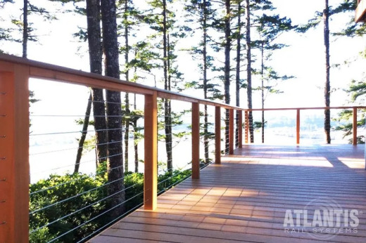 Cable Rail & Western Red Cedar in cottage home